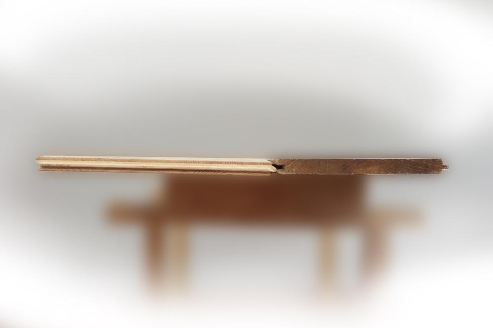 Particolare olmo e rovere verniciato, spazzolato in legno massiccio